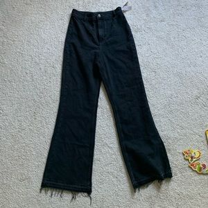 Free people high waisted wide leg jeans NWT